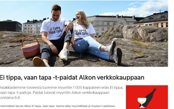 Soome alkoholimonopoli Alko uued T-särgid.