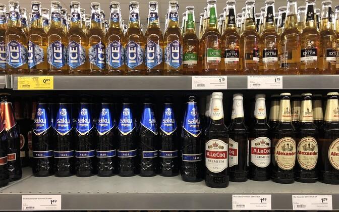 В Эстонии зафиксировали небольшое снижение цен на алкоголь.