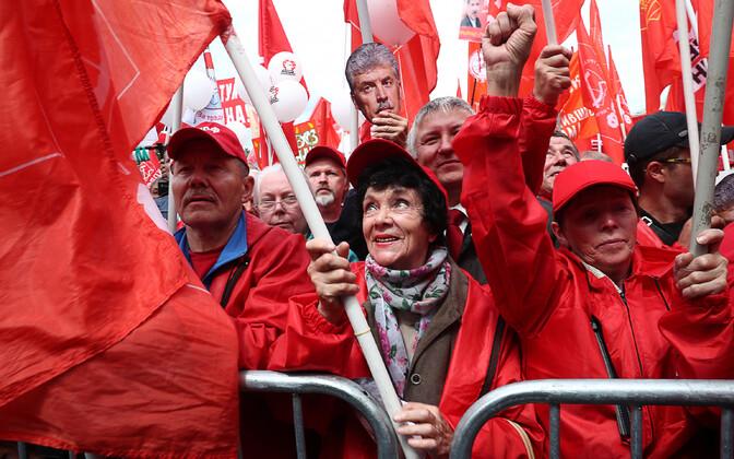 Vene kommunistid parteiüritusel, arhiivifoto.