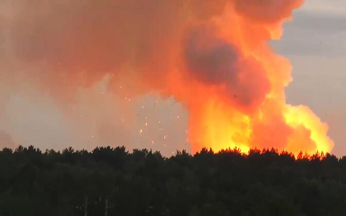 Ariivifoto: laskemoonalao põleng käesoleval nädalal Krasnojarski krais.
