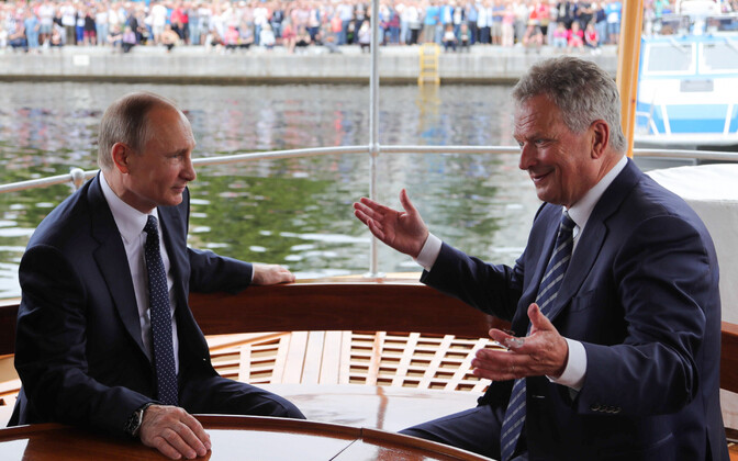 Путин и Нийнистё летом 2017 года в Саволинне