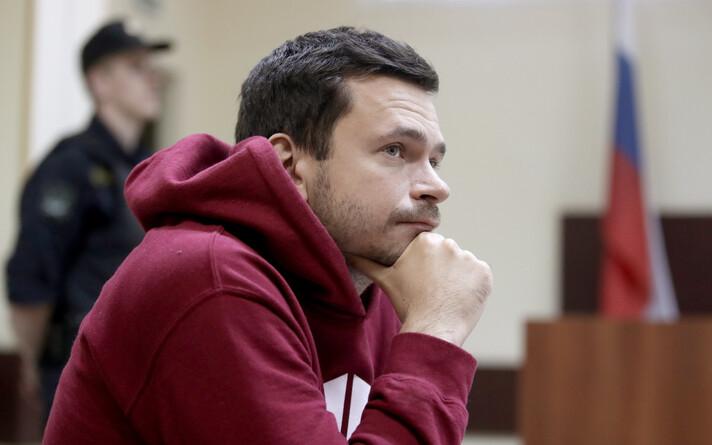 Илья Яшин в зале суда 30 июля 2019 года.