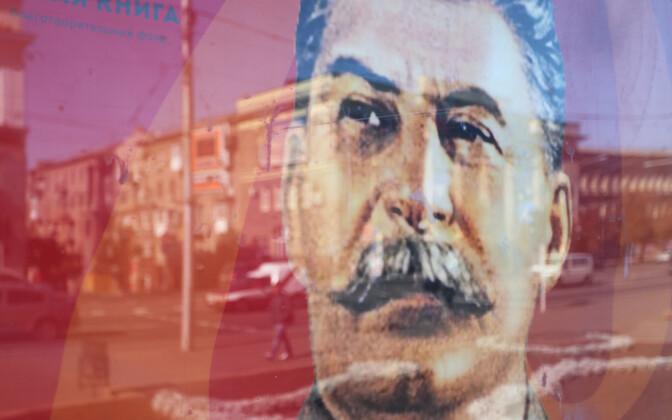 Stalini portree Kremli-meelsete kontrolli all olevas Donetskis.
