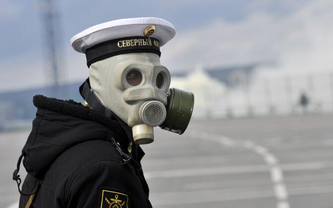Vene mereväelane õppusel, arhiivifoto.