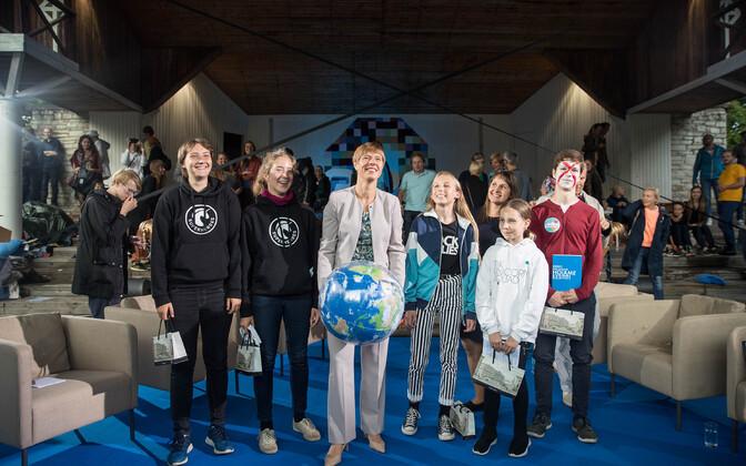 Керсти Кальюлайд приняла участие в обсуждении темы климата на Фестивале мнений.