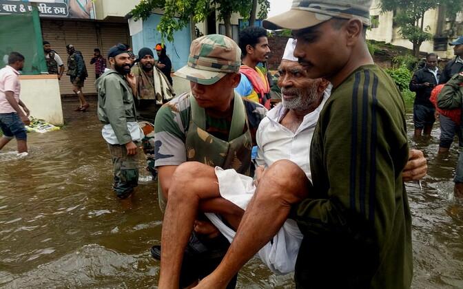 Üleujutus Indias.
