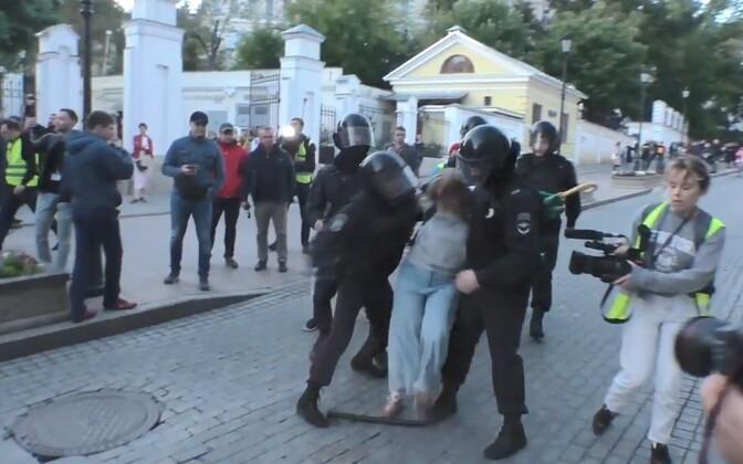 Intsident Moskvas laupäeval.
