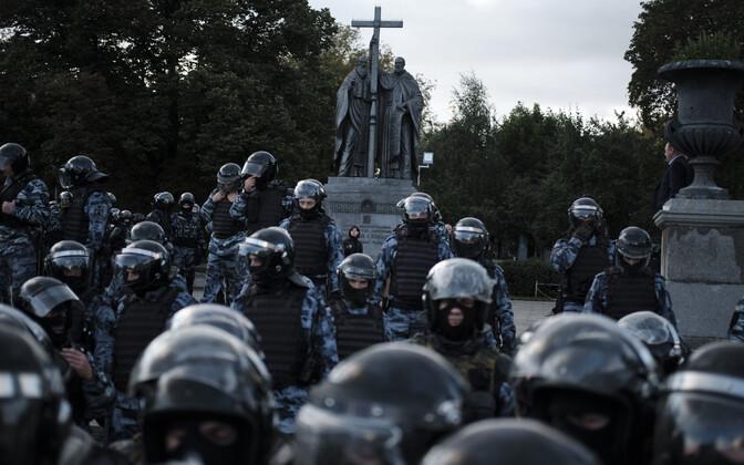 Märulipolitseinikud Moskvas.
