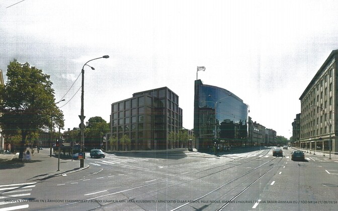 Эскиз коммерческого здания по адресу Татари, 1.
