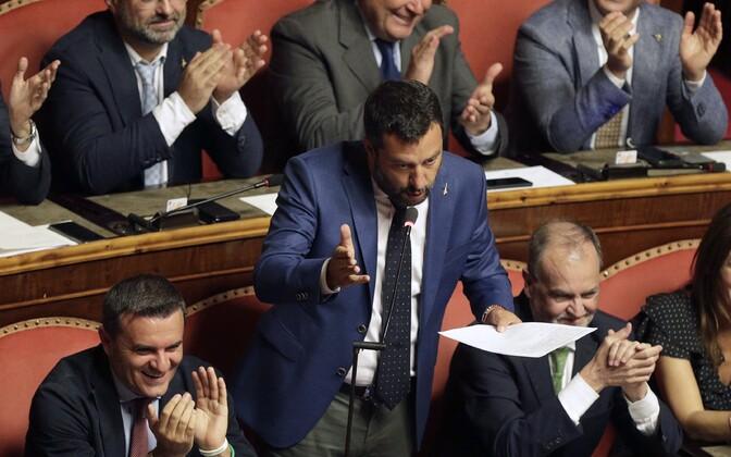 Matteo Salvini Itaalia parlamendis.