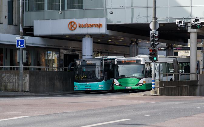 Buses in Tallinn.