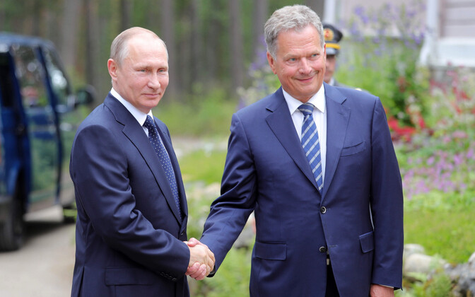 Vladimir Putin and Sauli Niinistö at a 2017 meeting.