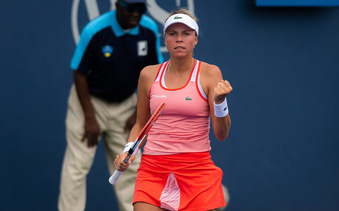 Anett Kontaveit at the Western & Southern Open.