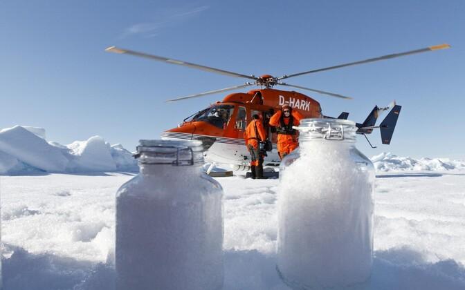 Mikroplasti kogumine Arktikas.