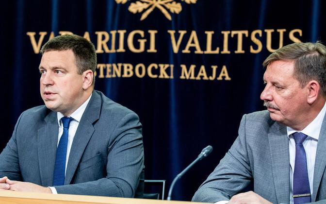 Valitsuse pressikonverents: Jüri Ratas ja Taavi Aas