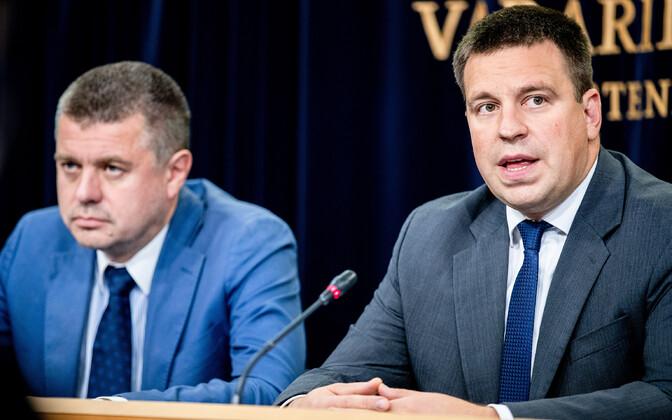 Välisminister Urmas Reinsalu ja peaminister Jüri Ratas