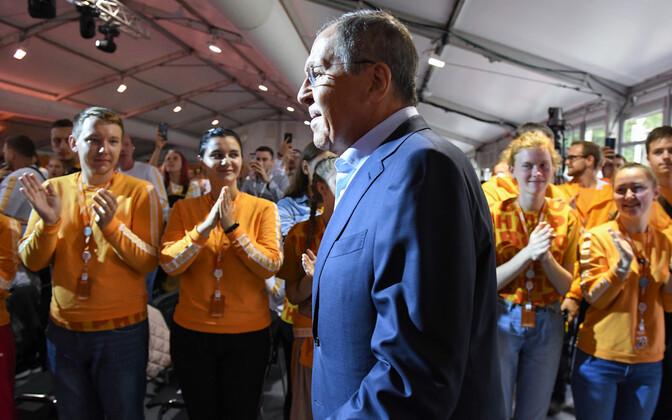 Vene välisminister Sergei Lavrov noortefoorumil.