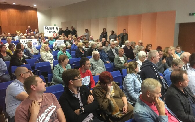 Многие жители ахтмеской части Кохтла-Ярве выступают против строительства нового завода по производству сланцевого масла.