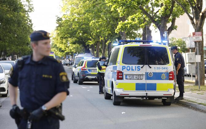 Шведские полицейские. Иллюстративная фотография.