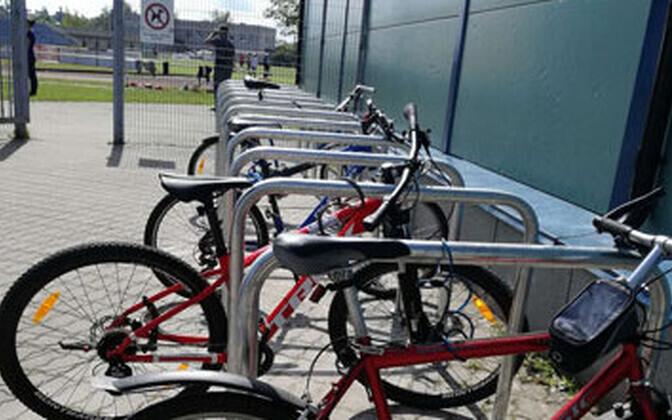 Велопарковка в Нарве.