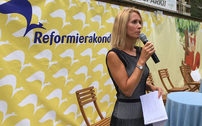 Kaja Kallas at the Reform Party summer days event.