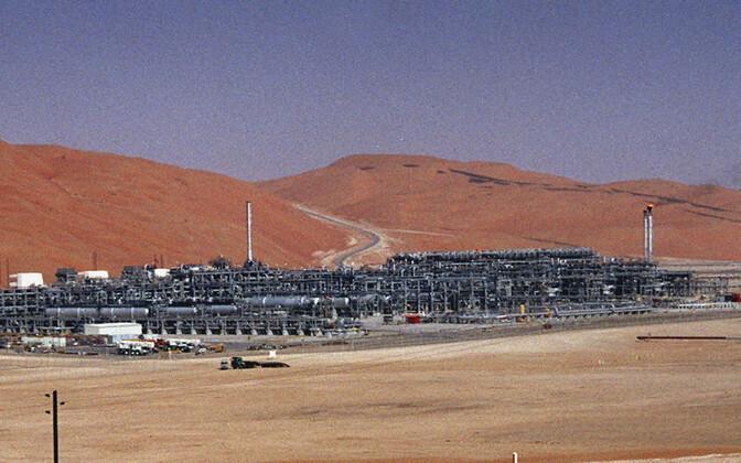 Vaade  Saudi Aramco gaasijaamale Shaybahimaardlas, millele huthid droonirünnaku korraldasid.