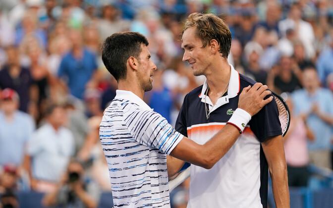 Novak Djokovic ja Daniil Medvedev