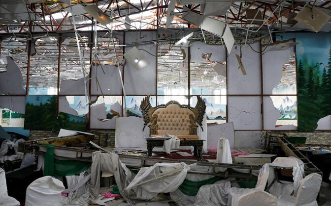Зал, где произошел взрыв.