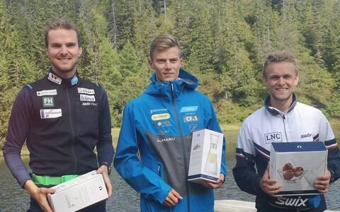 Jörgen Graabak (vasakult), Kristjan Ilves ja Leif Torbjörn Näsvold.