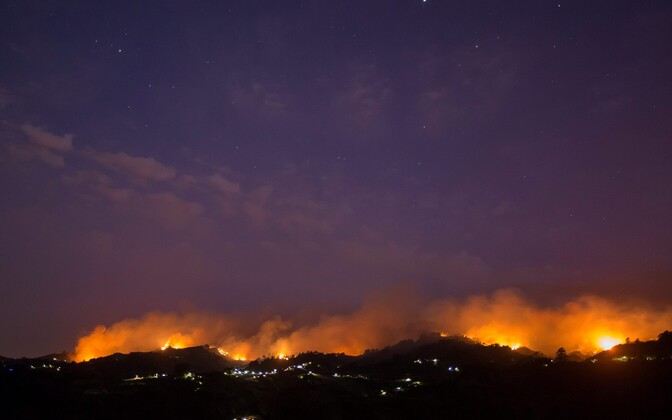 Maastikupõleng Gran Canarial.