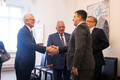 Estonia's past prime ministers attended a reception hosted by current Prime Minister Jüri Ratas (Centre) at Stenbock House on Monday. Aug. 19, 2019.