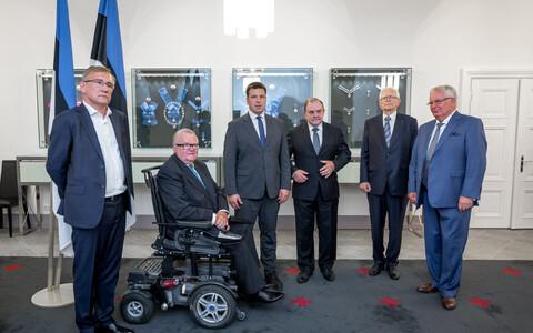 Встреча бывших премьер-министров с Юри Ратасом на Тоомпеа.