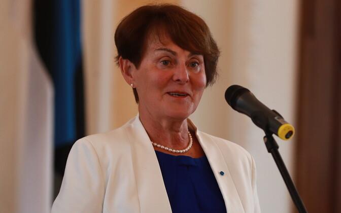 Liia Hänni 20. Augusti Klubi pidulikul koosolekul 20. augustil 2019.