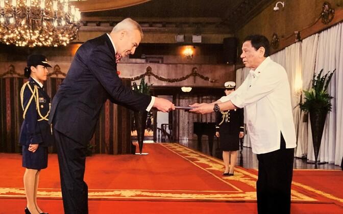 Väino Reinart ja Rodrigo Duterte.