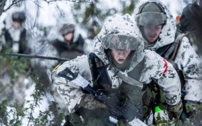 Soome sõdurid õppusel Trident Juncture 2018.
