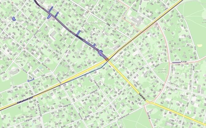 На перекрестке Валдеку и бульвара Вабадузе в течение недели будет ограничено движение.
