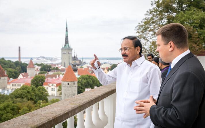 Вице-президент Индии Муппаварапу Венкайа Найду встретился с премьер-министром Эстонии Юри Ратасом.