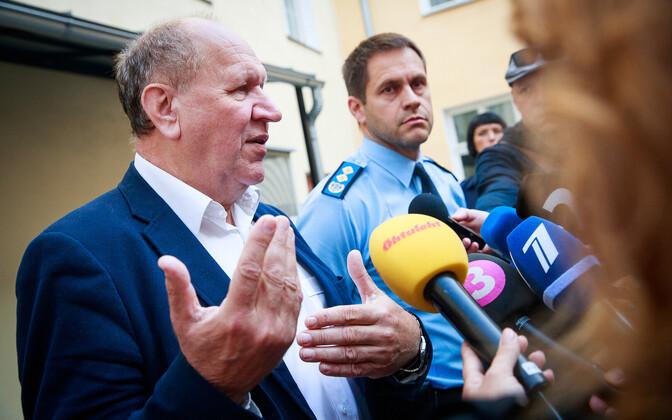 Mart Helme ja politseijuht Elmar Vaher.