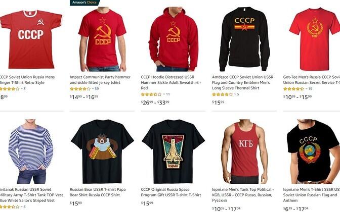 Valik Amazonis müüdavaid tooteid.