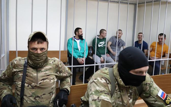 Ukraina meremehed Moskva kohtusaalis.