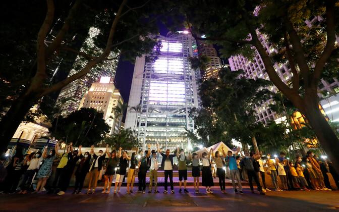 Inimkett Hongkongis.