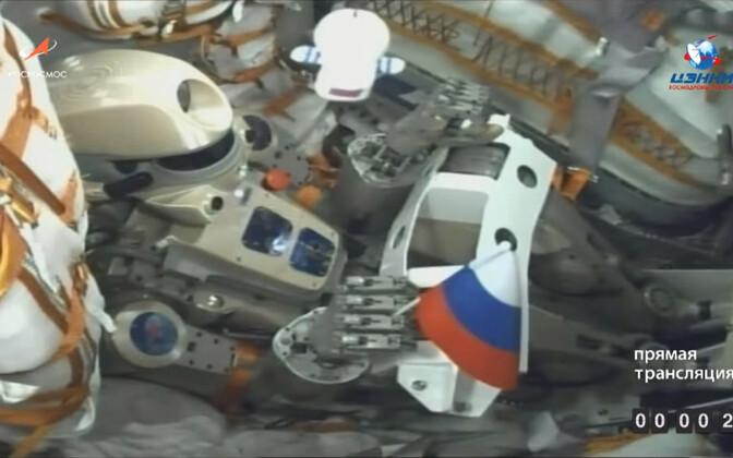 Humanoidrobot Fjodor kosmoselaeva Sojuz pardal.