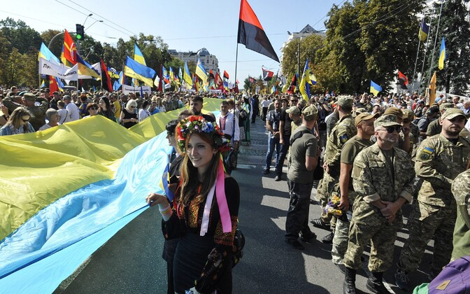 Isetekkeline paraad Kiievis.