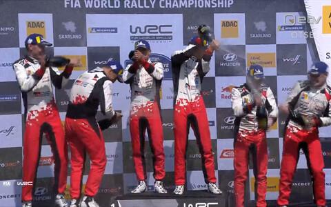 Saksamaa ralli pjedestaalikohad täitusid kolme Toyota ekipaažiga