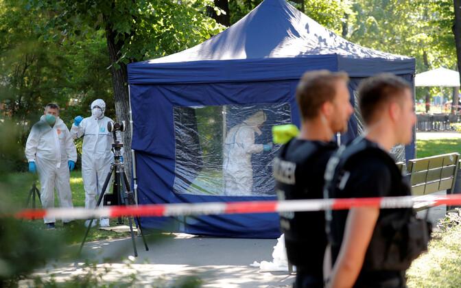 Saksa politsei sündmuskohal Berliinis.