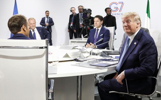 USA president Donald Trump G7 tippkohtumisel Biarritzis.