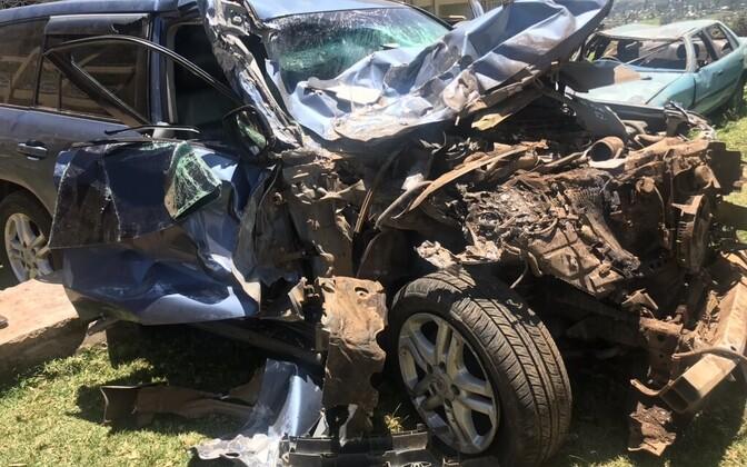 David Rudisha auto peale avariid