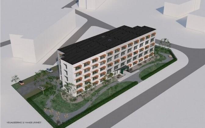 Render of the senior living building to be built in Põhja-Tallinn.