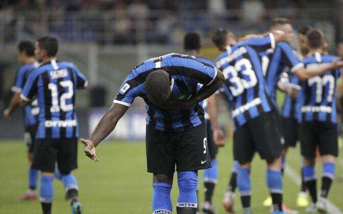 Romelu Lukaku ja Milano Interi mängijad