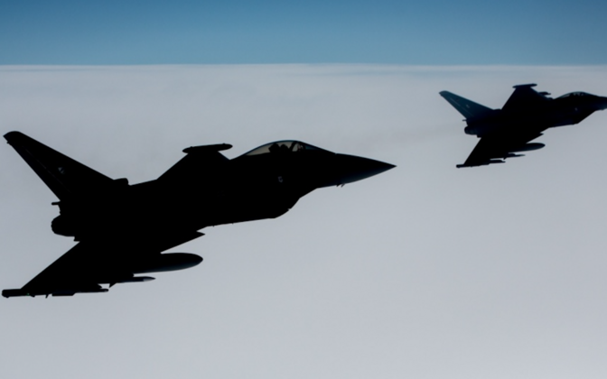NATO air policiing jets were scrambled three times last week.